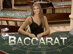 Illustration baccarat live casino croupière